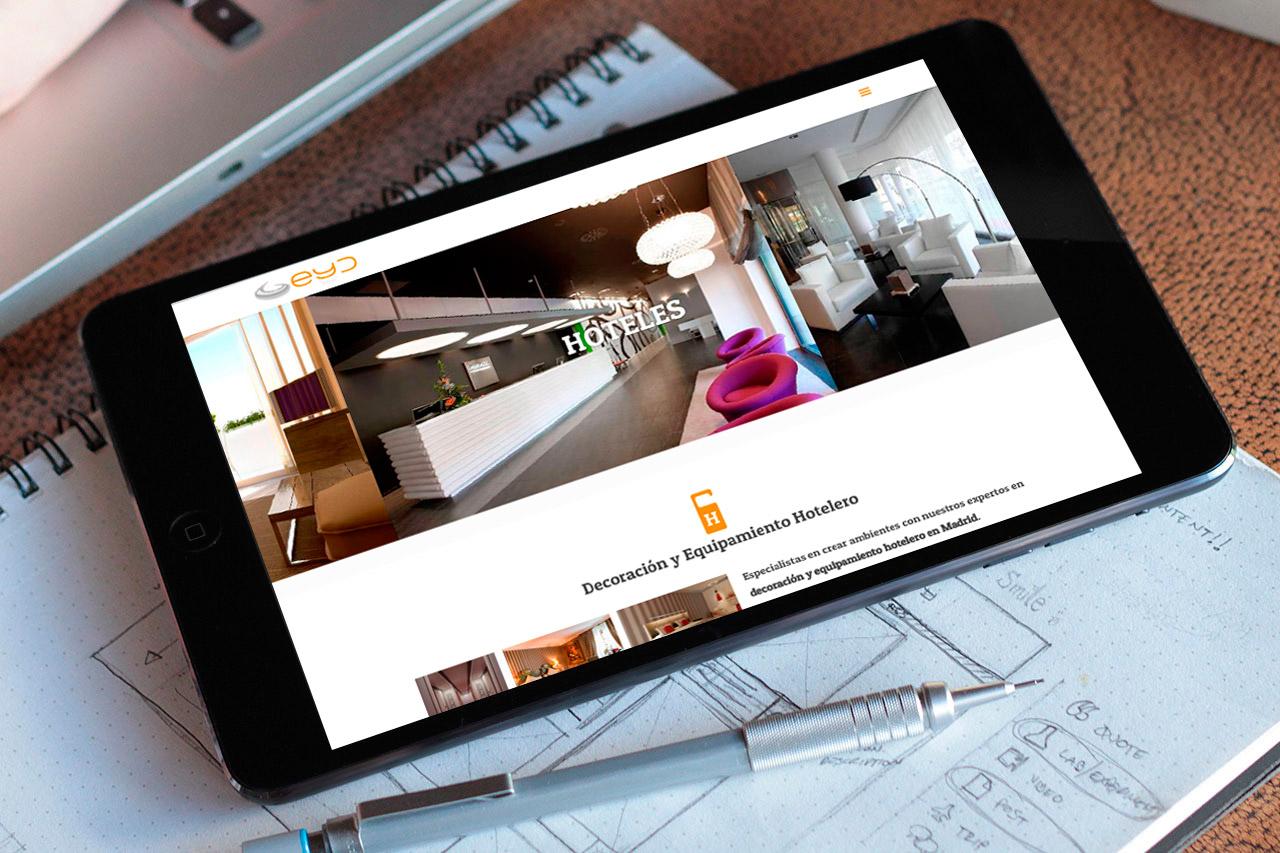 Visualización web responsive eyd360 en smartphones