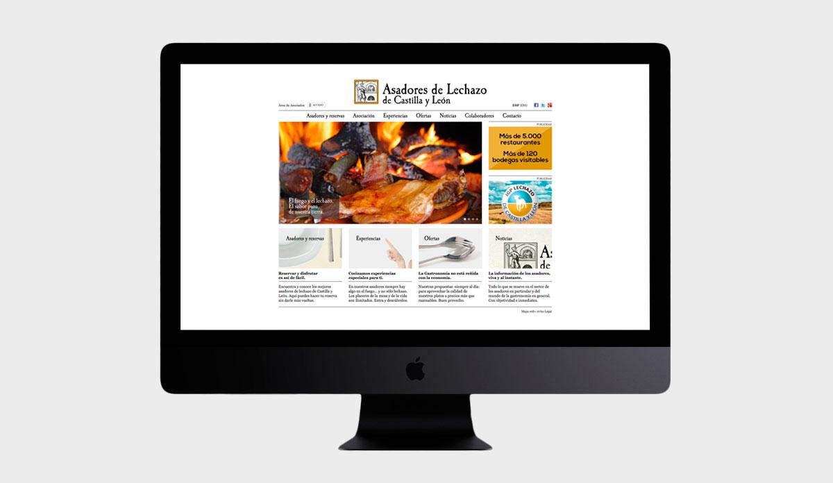 Desarrollo web y área de administración para asadores de lechazo de Castilla y León