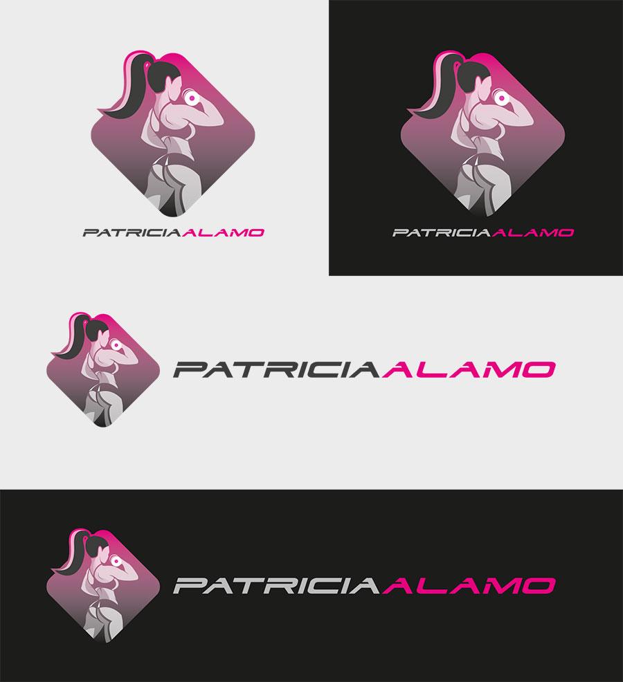 Diseño de logotipo para Atleta Fitness Patricia Álamo