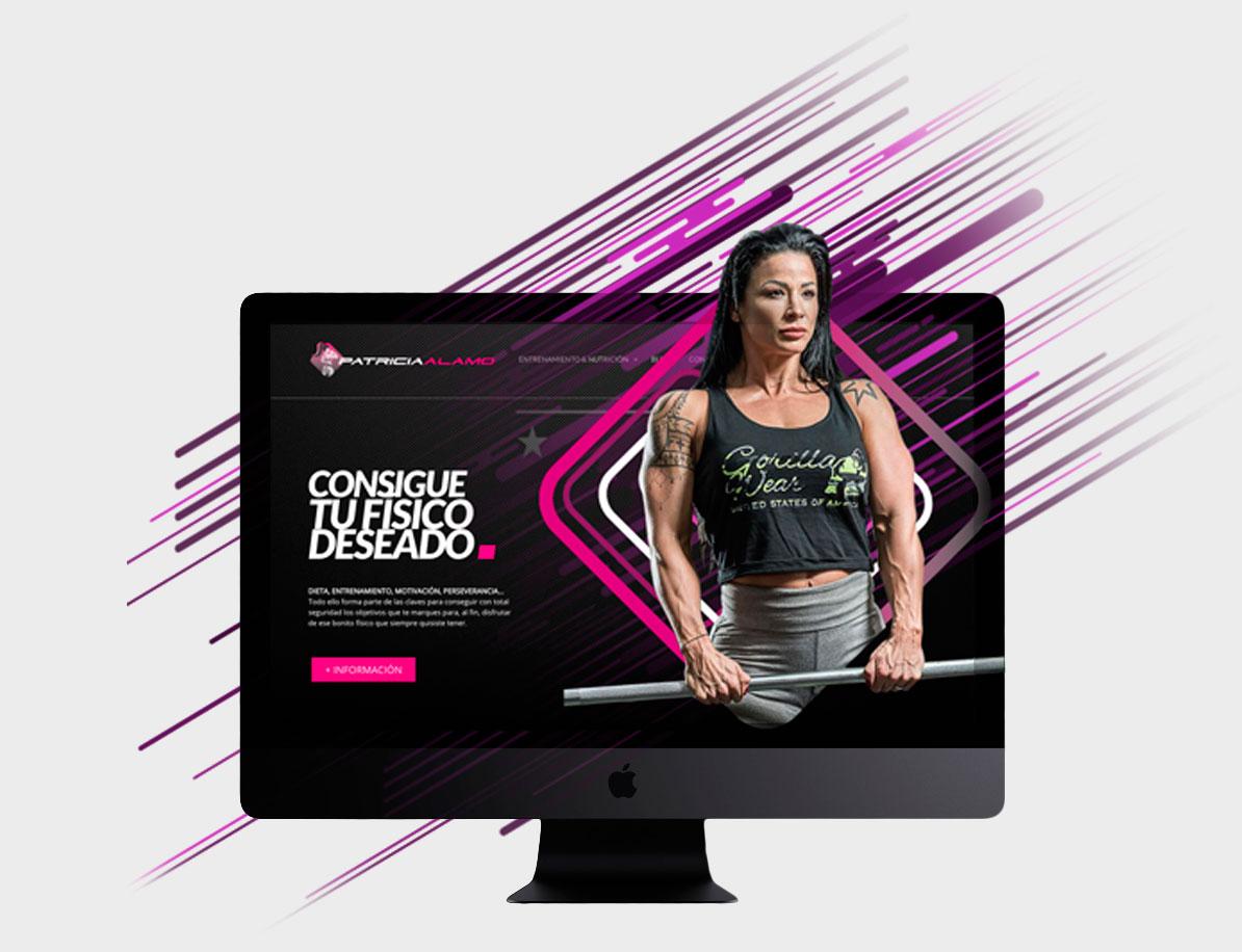 Diseño y desarrollo de página web Patricia Álamo