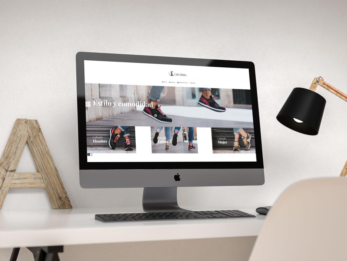 Diseño de tienda online de zapatillas KykStaan