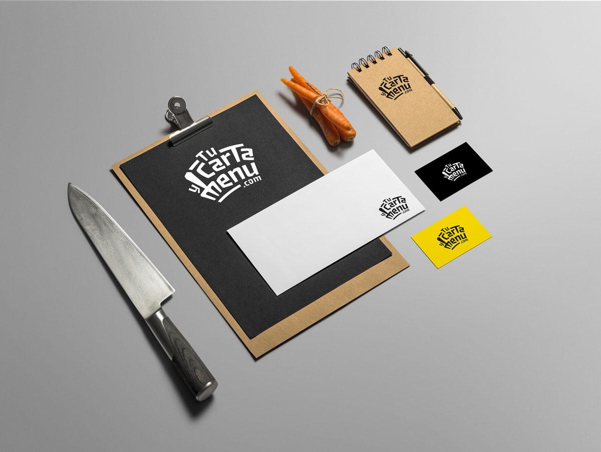 Diseño identidad corporativa Tu Carta Y Menu