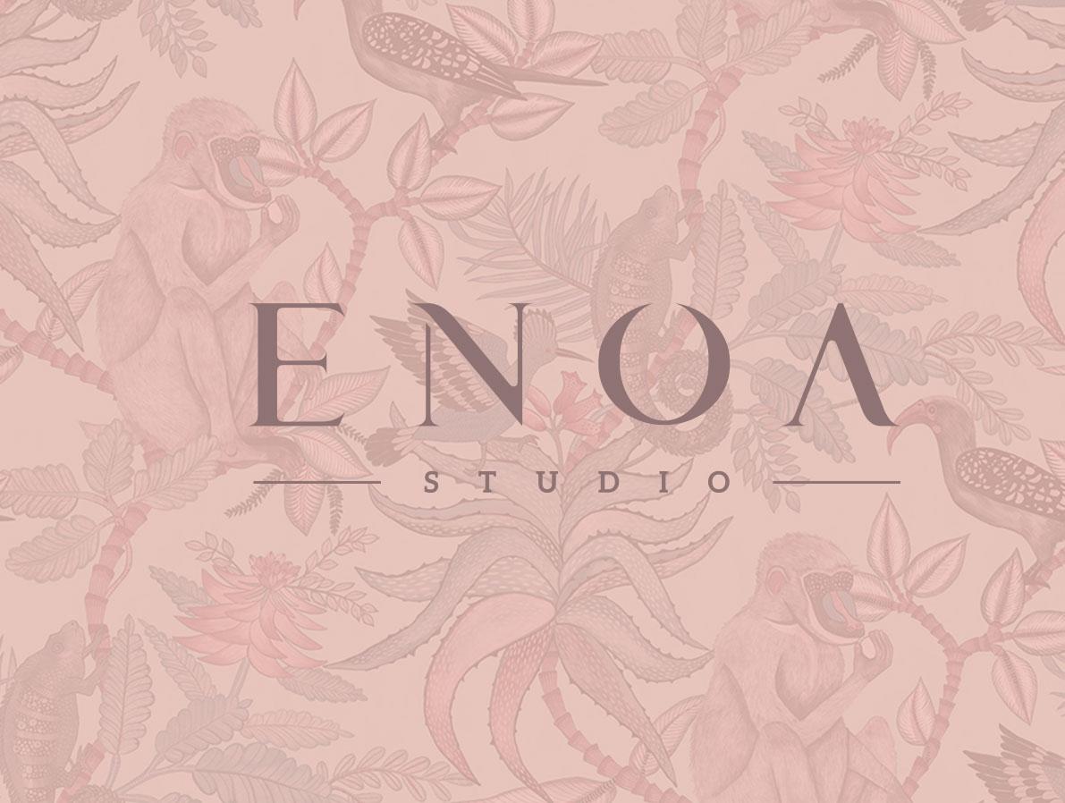 Diseño de identidad corporativa y web para Enoa Studio