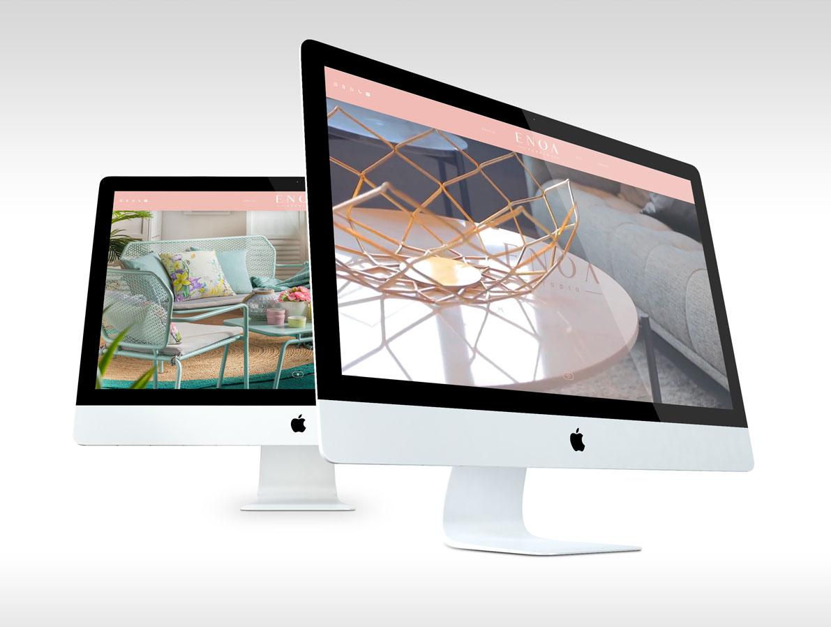 Diseño de pagina web Enoa Studio